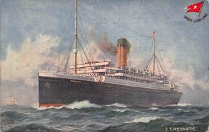 White Star Line SS Megantic twin-screw steamer Postcard
