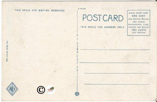 Hotel Deming Terre Haute Indiana Street Scene Vintage Postcard