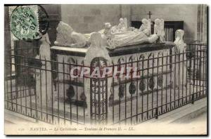 Postcard Old Nantes Cathedral Francis II Tomb