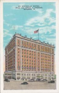 Illinois Springfield St Nicholas Hotel 1940