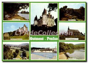 Postcard Modern Guemene Penfao Loire Atlantique Juzet pool tang of Valle chap...