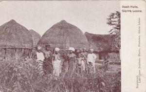 Topless Women, Bush Huts, Sierra Leone, Africa, 1910-1920s