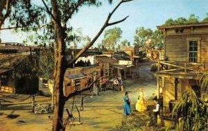 Ghost Town Main Street KNOTT'S BERRY FARM Buena Park, CA c1950s Vintage Postcard