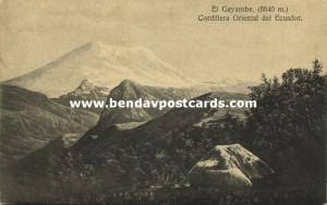 ecuador, Cordillera Oriental, El Gayambe Volcano (1910)