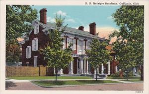 Ohio Gallipolis O O McIntyre Residence Curteich