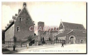 Old Postcard Nantes Dobree Museum and The House of the Duke Jean V