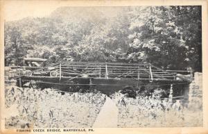 Marysville Pennsylvania~Fishing Creek Bridge~Vintage Car~Perry County~Postcard