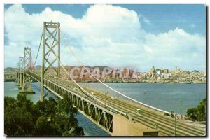 Postcard Old San Francisco Oakland Bay Bridge This mammoth