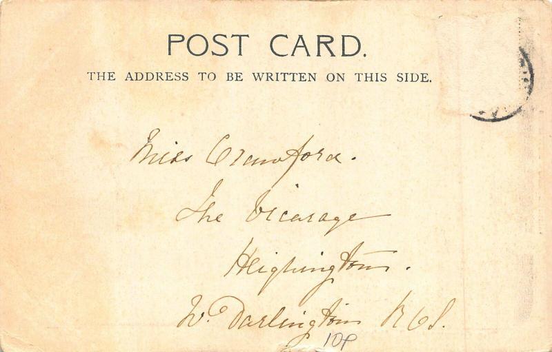 Abbotsford The Entrance Hall Postcard