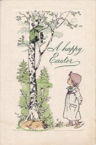 EASTER : Child & bird , PU-1910