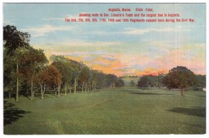 Augusta, Maine, State Field, Showing Walk to Gov. Lincoln's Tomb