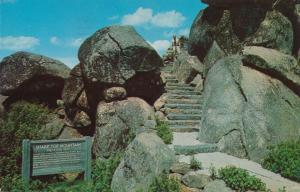 Trail to Sharp Top Peak on Blue Ridge Parkway near Otter VA, Virginia - pm 1967