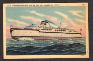 VA SS Princess Anne Ferry CAPE CHARLES NORFOLK VIRGINIA
