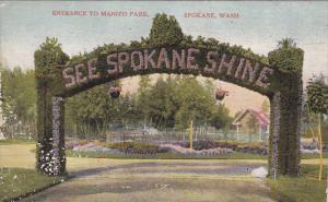 See Spokane Shine, Entrance to Manito Park, Spokane, Washington, 1900-10s