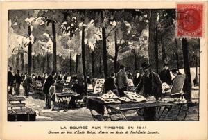 CPA PARIS (8e) La Bourse aux Timbres en 1941 (564021)