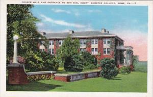 Georgia Rome Cooper Hall and Entrance To Sun Dial Court Shorter College