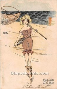 Artist Signed Raphael Kirchner Artist Signed Raphael Kirchner 1901 very light...