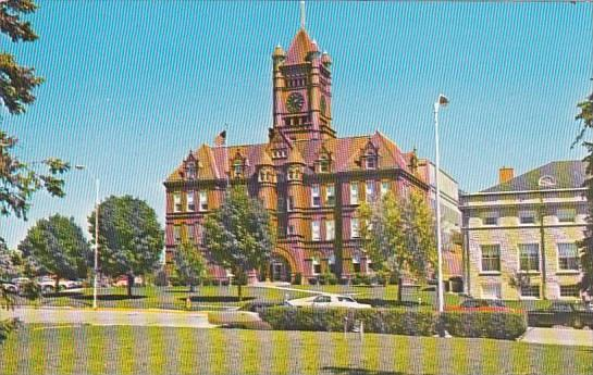 Illinois Wheaton Dupage County Court House Erected A D 1896