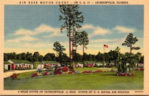 Florida Jacksonville The Air Base Motor Court Curteich