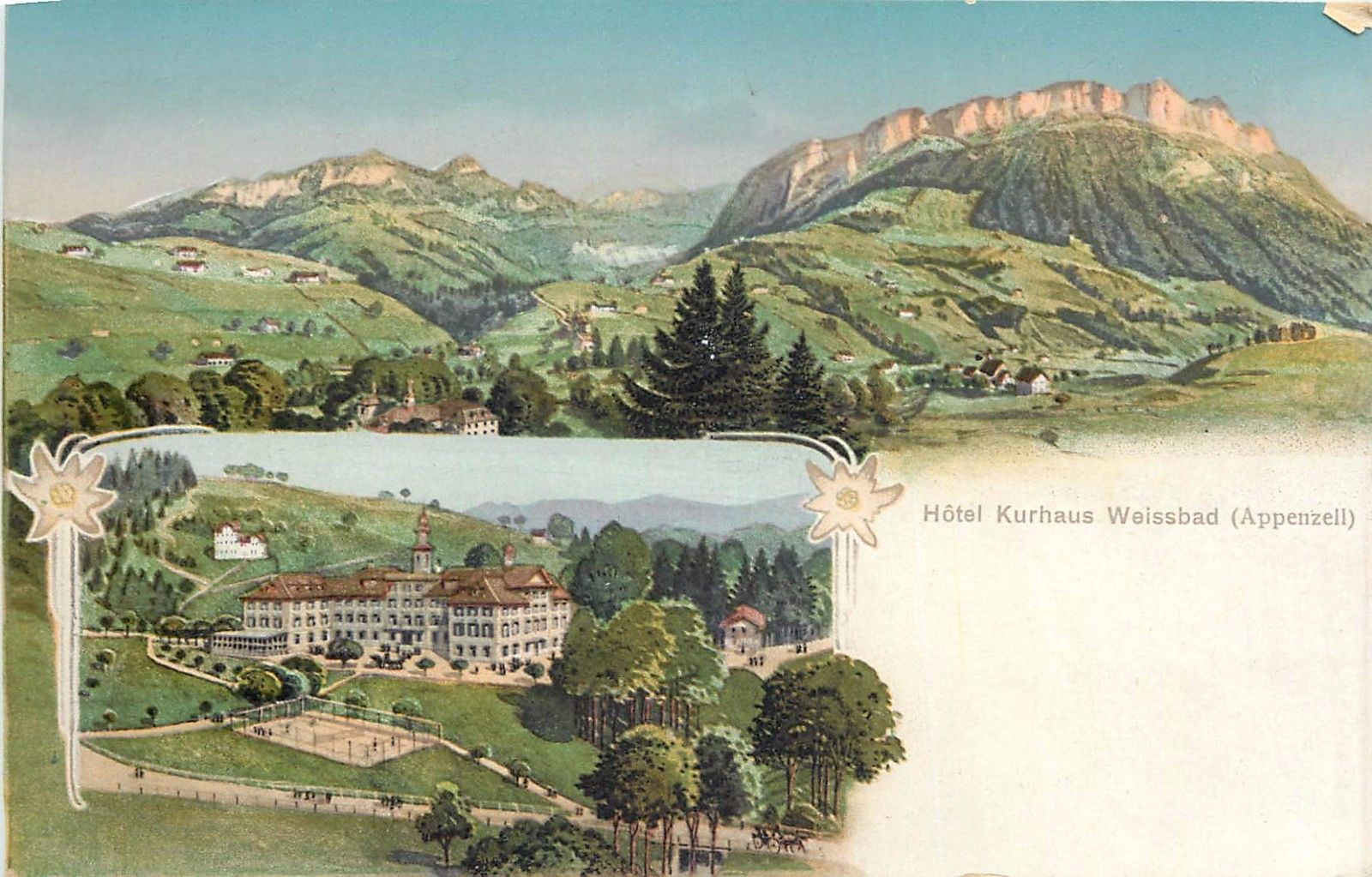 Hotel Kurhaus Weissbad Appenzell Switzerland Hippostcard