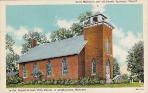 Michigan Irish Hills Saint MIchael's and All Episcopal Church Curteich