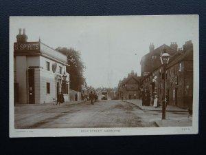 Birmingham HARBORNE High Street shows THE PLOUGH INN c1905 RP Postcard by ADCO