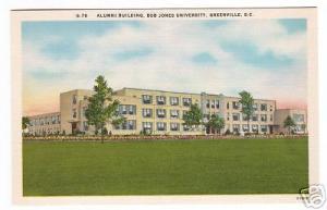 Alumni Hall Bob Jones University Greenville South Carolina postcard