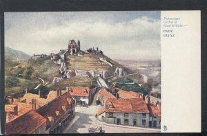 Dorset Postcard - Artist View of Corfe Castle     RS19300