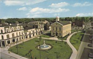 Aerial view,  Oxford Museum, City Square, Woodstock, Ontario,  Canada,  40-60s