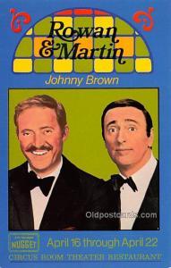 Rowan & Martin, Johnny Brown, Circus Room Theater Restaurant Movie Star Actor...