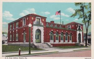 Pennsylvania Sayre Post Office Curteich