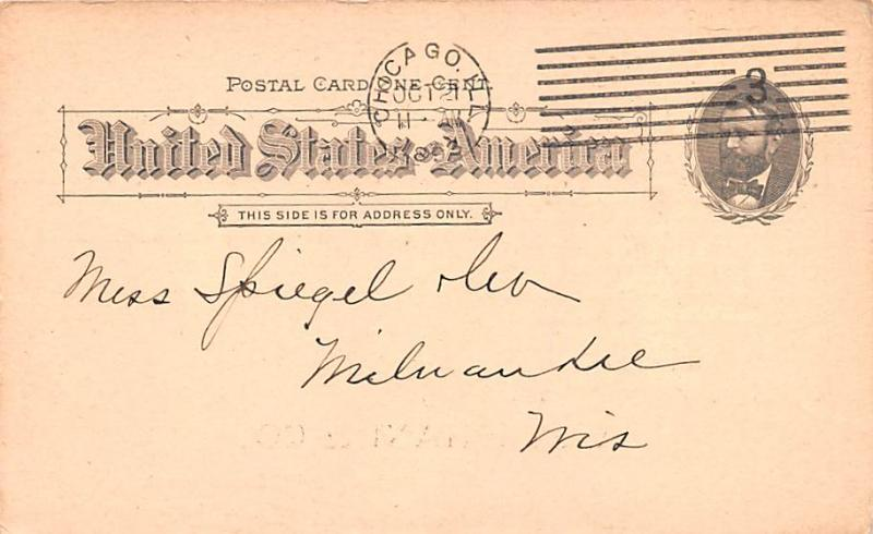 Advertising Post Card A Stephani & Co Cedar Street, New York, NY USA 1893