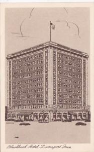 Iowa Davenport Blackhawk Hotel