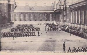 New York Elmira Regiment passing In Review State Reformatory Albertype