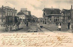 Netherlands Den Haag Huygensplein Horse And Wagon Street View The Hague 06.19