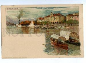 171853 ITALY PALLANZA Manuel Wielandt Vintage litho postcard