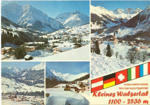 Austria, Kleines Walsertal, Internationales Wintersportgeblet, used Postcard