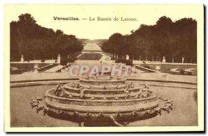 Old Postcard Versailles Latona fountain