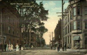 Johnstown NY North Market St. c1910 Postcard