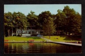 NY View of Hotel on LAKE MAHOPAC NEW YORK Postcard PC