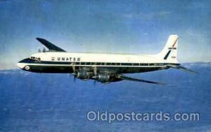 United Air Lines DC-7 Mainliner Airplane, Airport Post Card, Post Card  Unite...