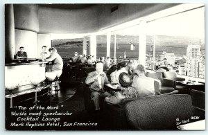 VTG Postcard Real Photo RPPC California CA Mark Hopkins Hotel Zan Stark SF B1