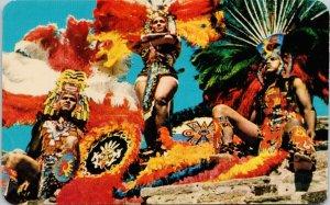 Danzantes Aztecas Aztec Dancers Xochiquetzal Mexico Unused Postcard F52