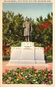 Minnesota Rochester Mayo Park William Worrell Mayo Statue Curteich