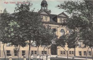 Sibley IA~Handcolored~Students @ High School~Open Belltower~Widow's Walk 1910