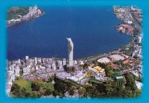 Brasil Rio De Janeiro Rj Air View Of The Corcovado Rock With Rodrigo De Freit...