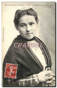 Old Postcard Costumes of Rennes IIIe Vilaine Jeuen Coiffee daughter Catiolle
