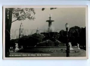 192211 BRAZIL RIO DE JANEIRO Praca 15 Novembro Vintage photo