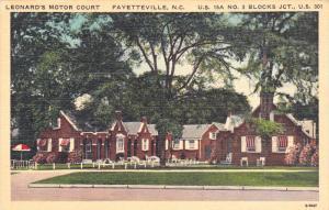Leonard's Motor Court, FAYETTEVILLE, North Carolina, 1930-1940s