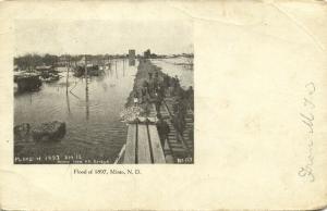 Minto, N.D., Flood of 1897, Rail Road Bridge